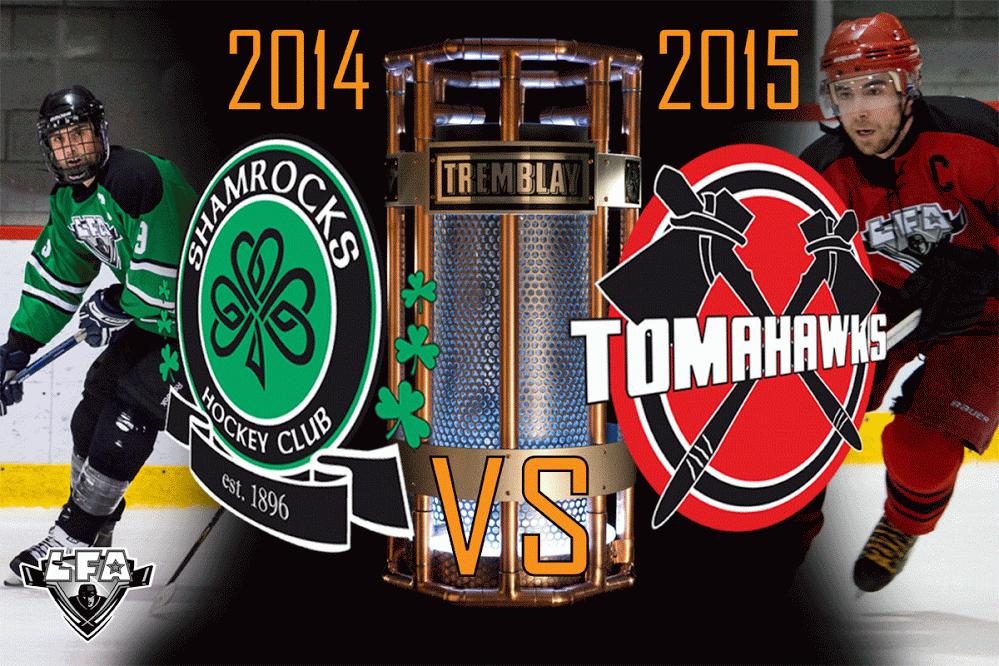 match de championnat de la saison régulière 18h30 dimanche prochain à l'aréna du college notre-dame (montage totem urbain)
