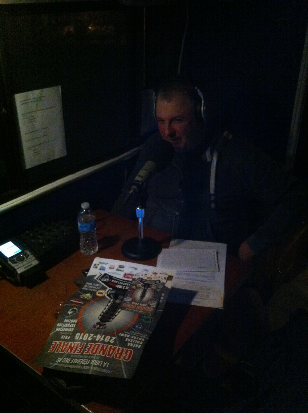 Jean-Charles Lajoie last monday during his sport tribune talking about our league and the cause we are supporting