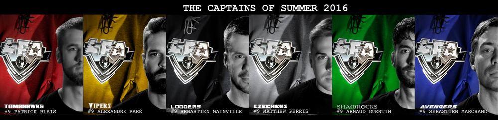 The 2016 summer season captains.