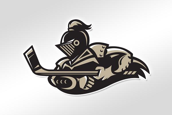 Logo concept pour les Las Vegas Black Knights (Crédit behance.com)