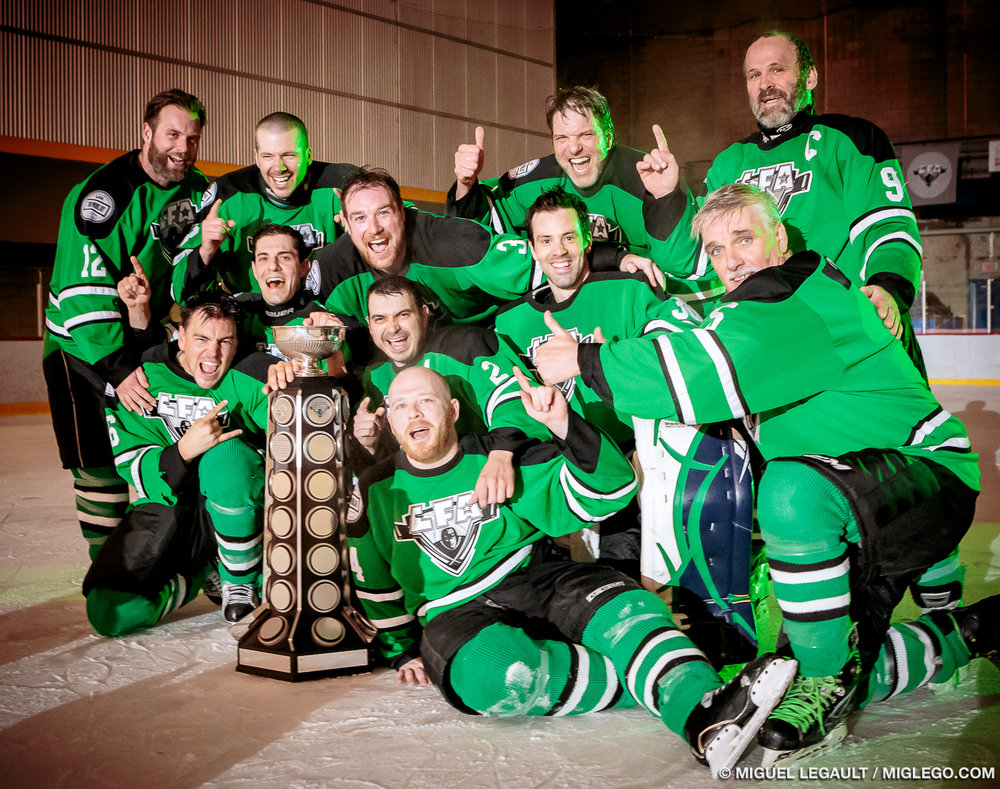 The 2015-2016 Shamrocks have shown that a team with good work ethic and constant efforts can win over more talented opponants. (Photo Miguel Legault)