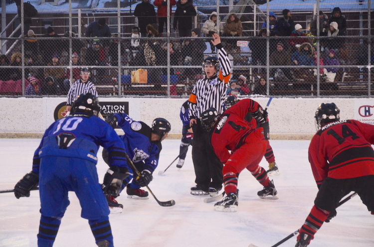 for a couple of seasons now, a game between the Rhinos (known before as the Tomahawks) and the Avengers is synonymas with intensity and excitement.. (Archive photo by frederic serre takin from last year's winter classic)