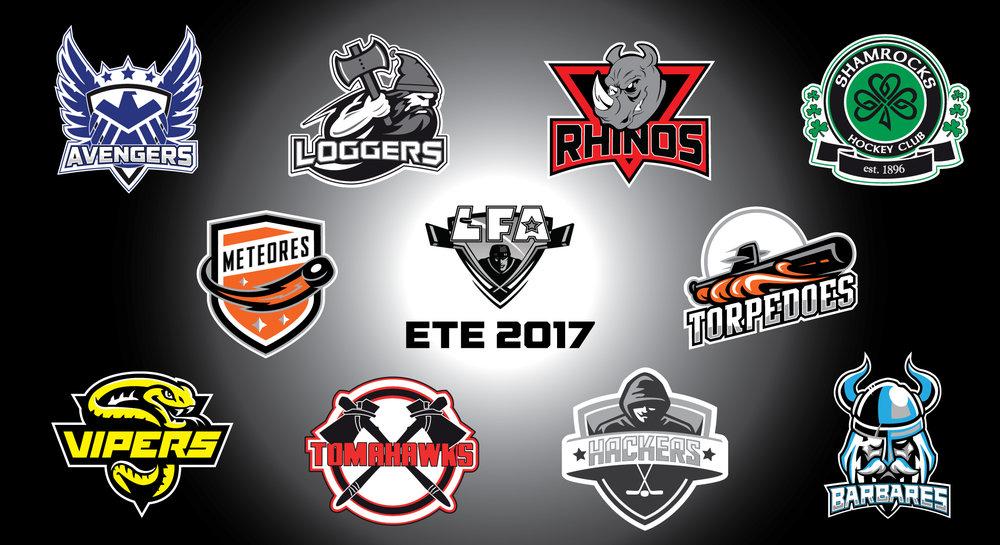 nos 10 équipes de nos deux divisions