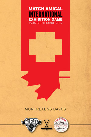 A commemorative poster for the international games of last weekend (Design Jacob Poliquin)