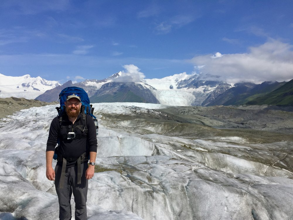 Ryan Neese on the Kennicott Glacier - Photo: Ryan Neese