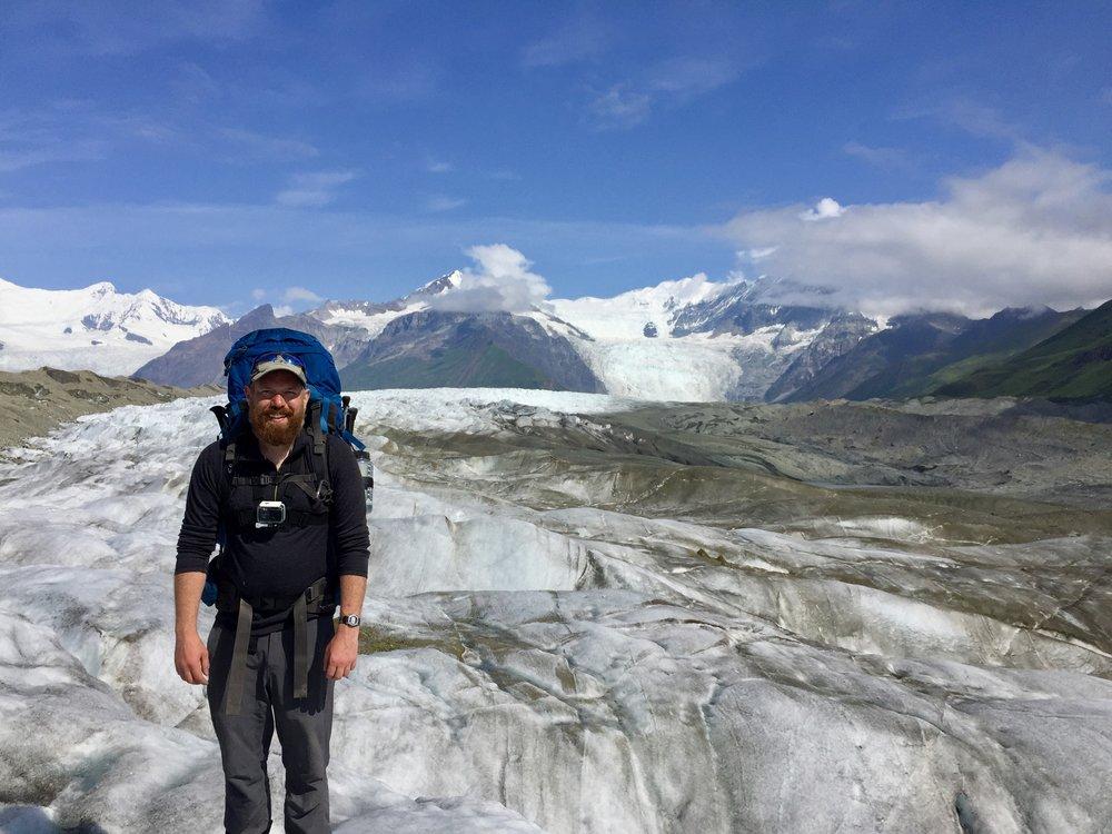 Ryan Neese on the Kennicott Glacier - Photo: Ryan Neese