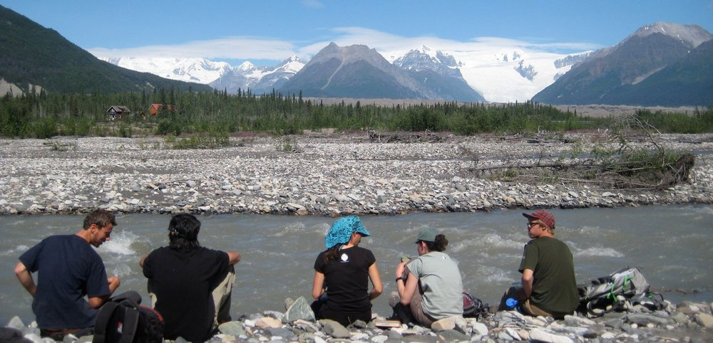 Students in our Field Studies program along McCarthy Creek.