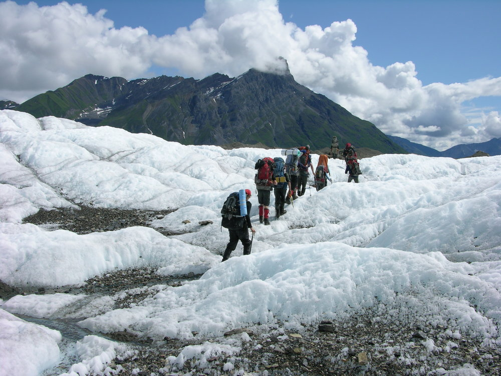 Students heading into the back-country to begin field data collection