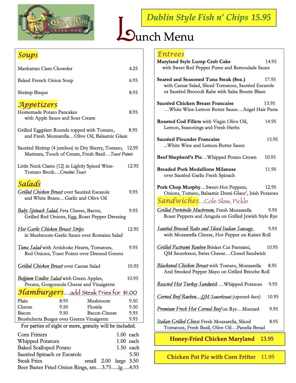 Quiet Man Lunch Menu 91117.jpg
