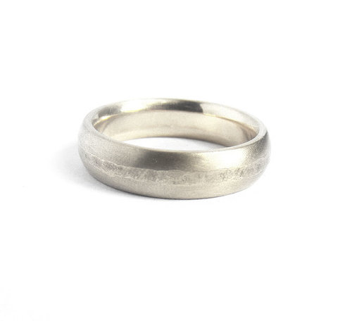 Planished Platinum Wedding Band 6mm Quercus Studio Raleigh