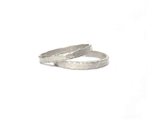 Forged Platinum Square Band Wedding Bands Raleigh NC