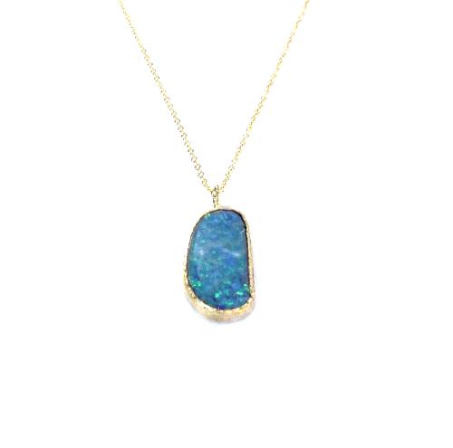 Australian opal 18k gold pendant quercus raleigh australian opal 18k gold pendant aloadofball Images