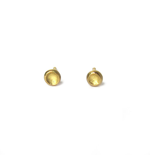 earring seviljewelry gold index plated flower stud
