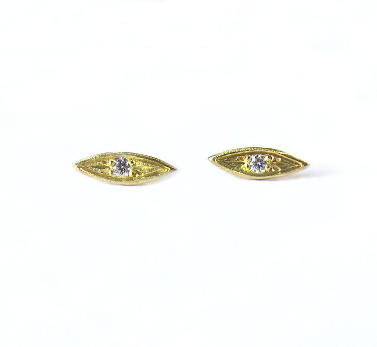 dancre earrings hermes yellow d ancre yellolw stud chaine gold tpm