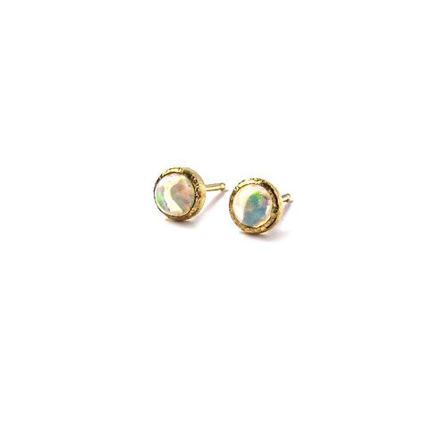 stud white opal earrings jewelry oravo pear shape product yellow gold watches created