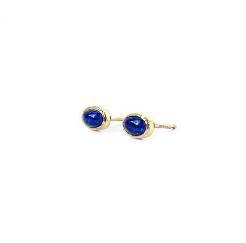 handcrafted silver product earrings lapis sterling by stud nicole artisan lazuli hill and jewellery