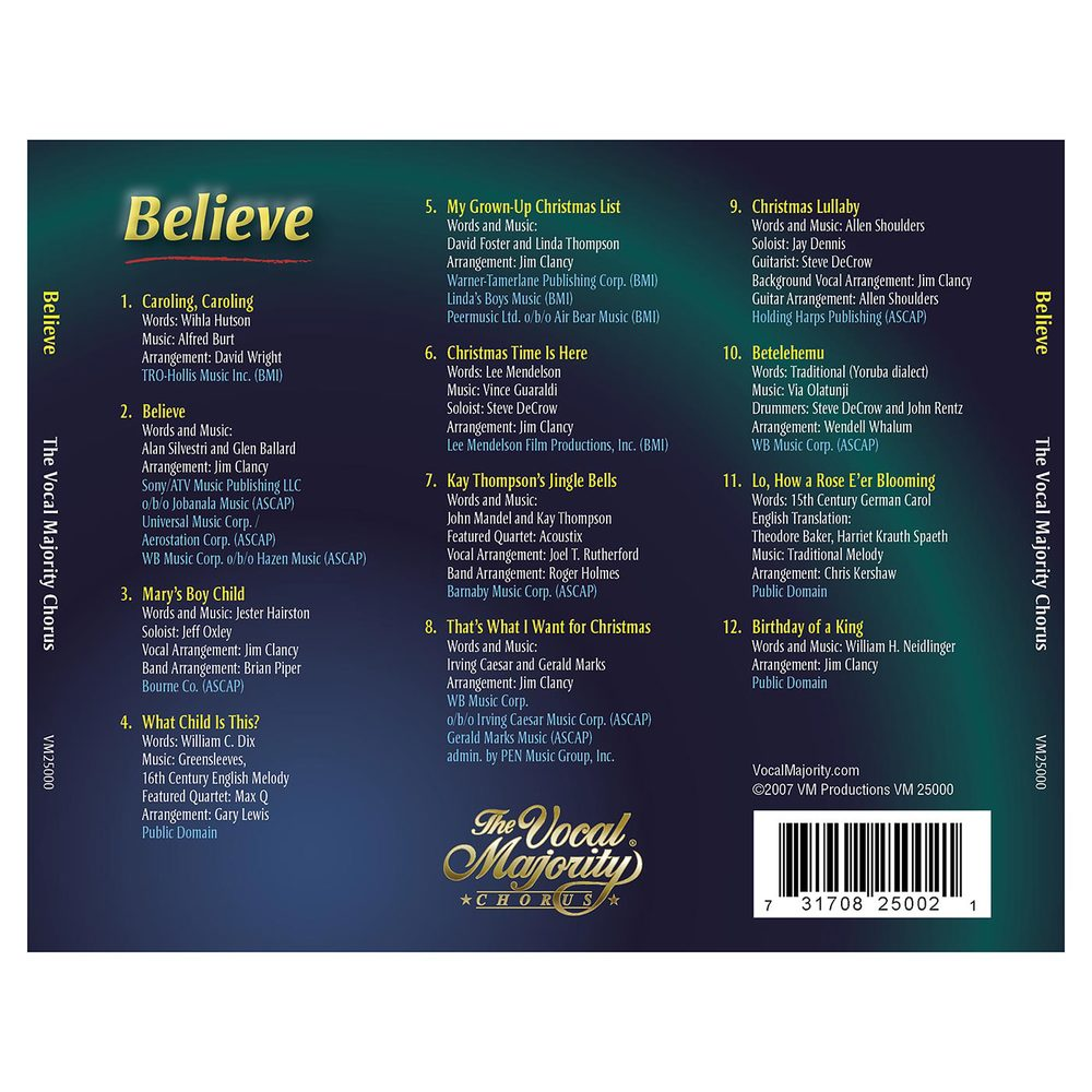 Tray Card: Believe