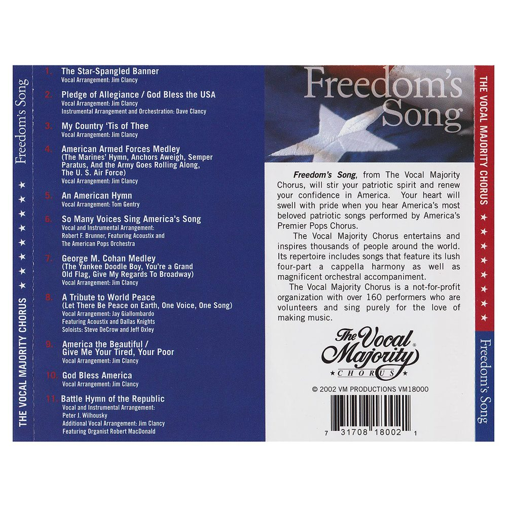 Tray Card Outside: Freedom's Song