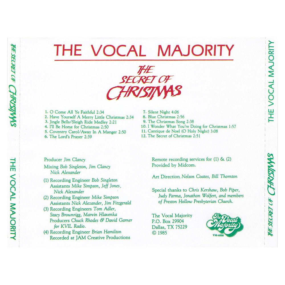 The Secret of Christmas — Vocal Majority - Pure Harmony