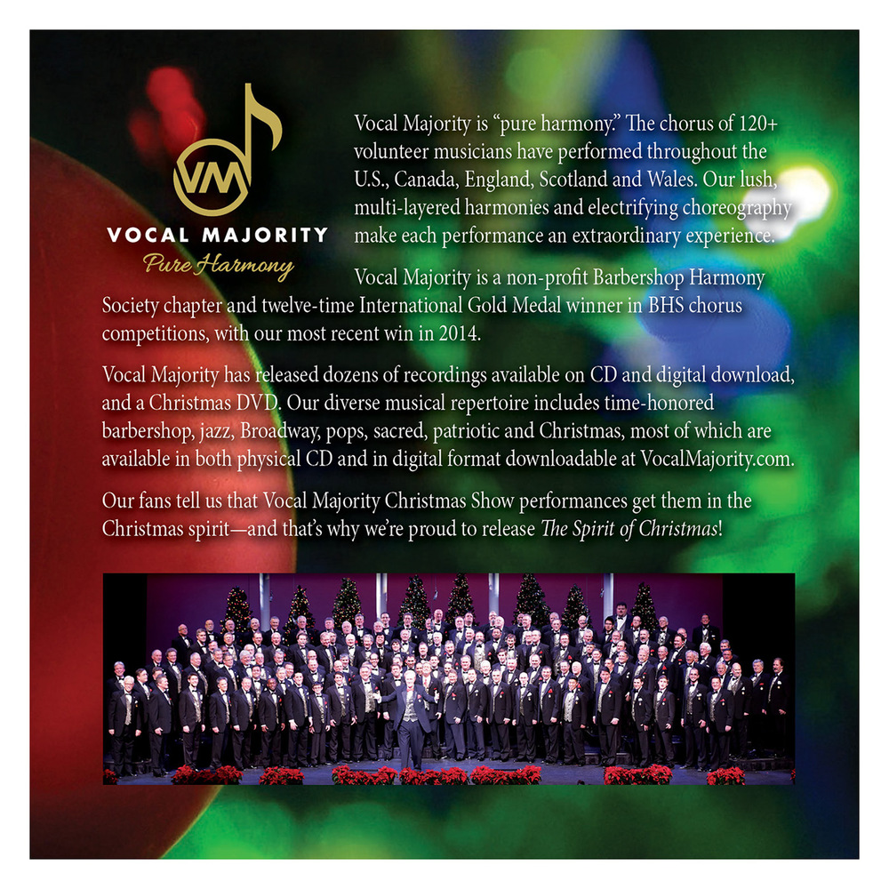 Booklet Back Cover: The Spirit of Christmas