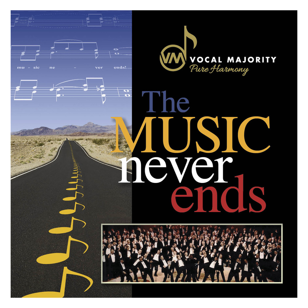 Booklet Front Cover: The Music Never Ends