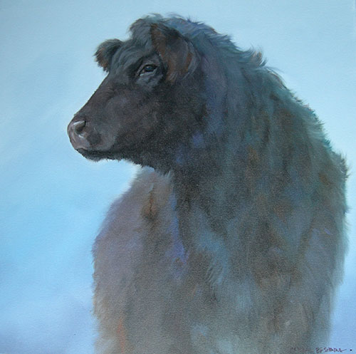 """SOLD Scout , oil on canvas 24"""" x 24"""" SOLD"""