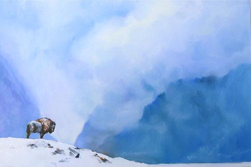 """Precipice , oil on canvas 30 x 40"""" SOLD"""