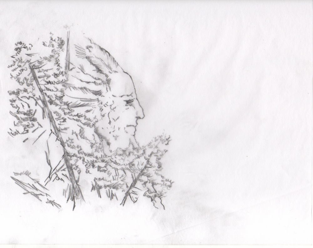 Frame (pencil sketch) for Opener for Hard Rock Medical TV series