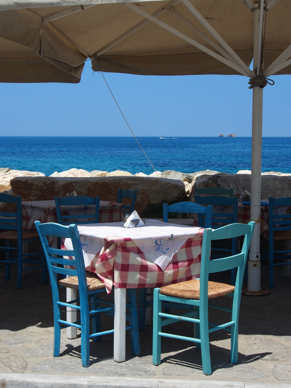 Seaside view at Taverna Mira