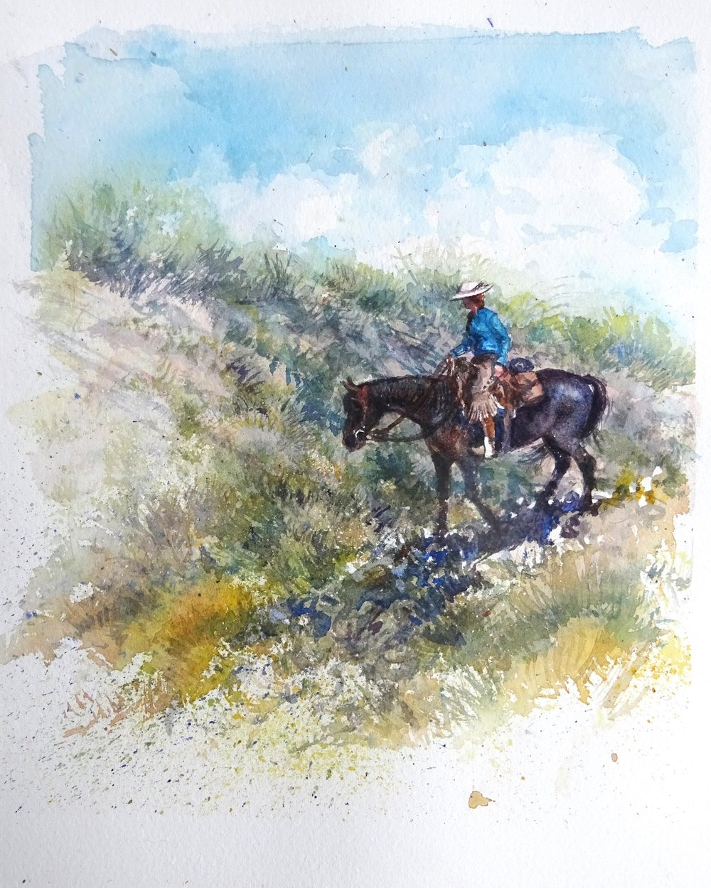 """On Trails II"" watercolour"