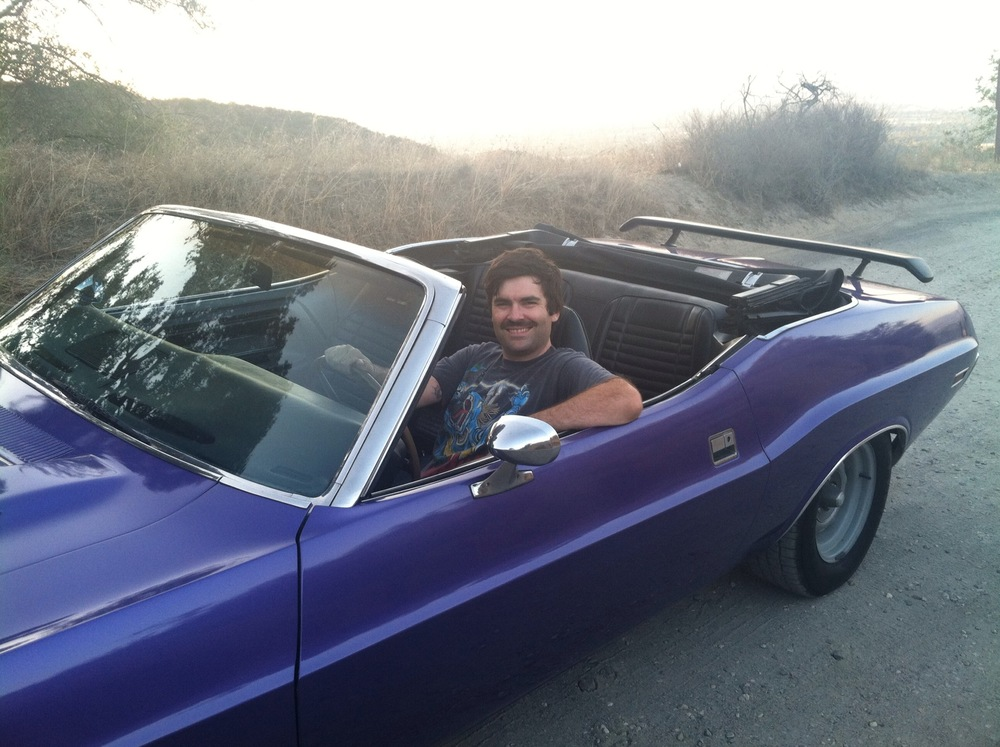 Tim in the '71 Challenger