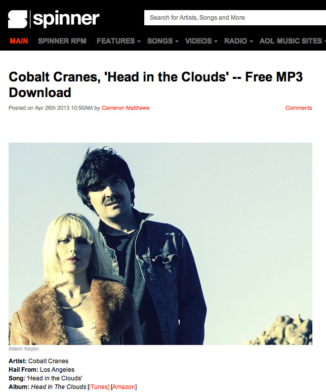 Free MP3 Download 'Head In The Clouds' on SPINNER follow the link: SPINNER