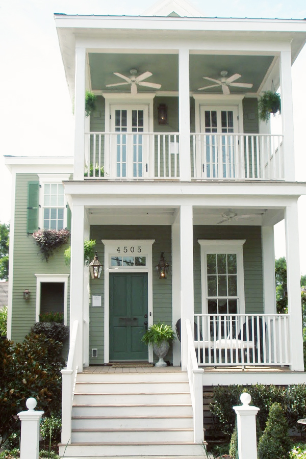 Two-Story Blue House