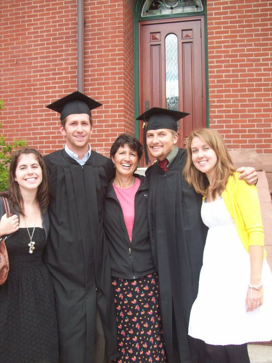From left to right: Me, Aaron, our mom, Antony, and Alissa (older brother Allen missing but I still love him!)