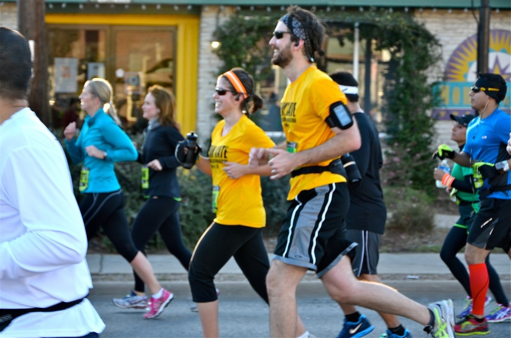 Mile 7 of the Austin Half-Marathon
