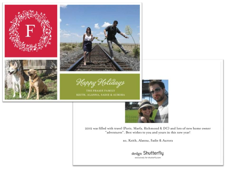 Our holiday card, 2012