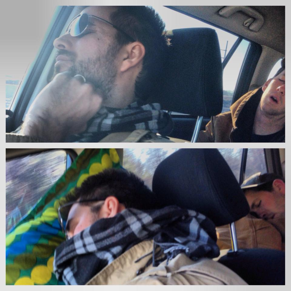Top: Keith and my brother at 10 am. Bottom: Keith and my brother at 2 pm.