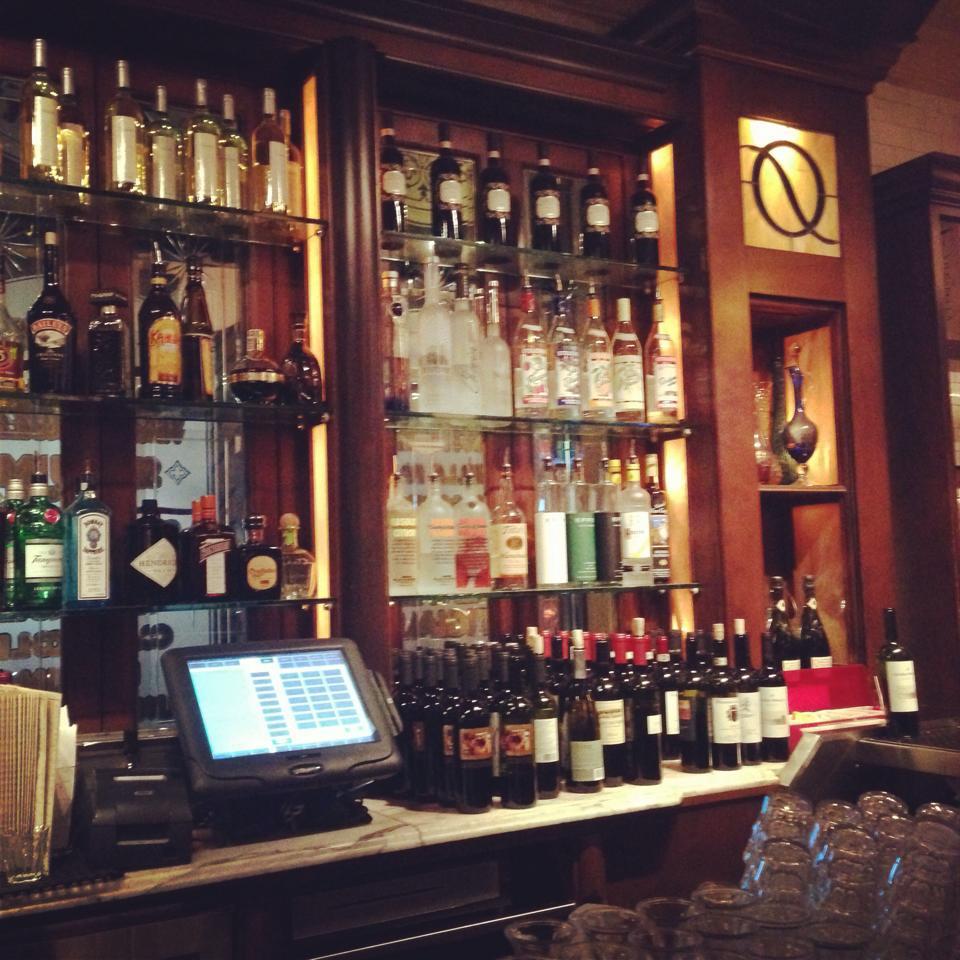 The bar at Quartino Ristorante, Chicago