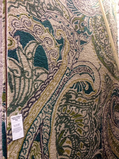 Indoor / Outdoor Paisley Rug 8' x 10', $600