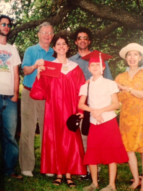 Graduation Day - can't believe the adorable, little girl in this photo is turning 21 next week (my sister)!