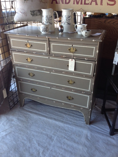 "This gorgeous dresser was ""only"" $1900 .... Yikes!"