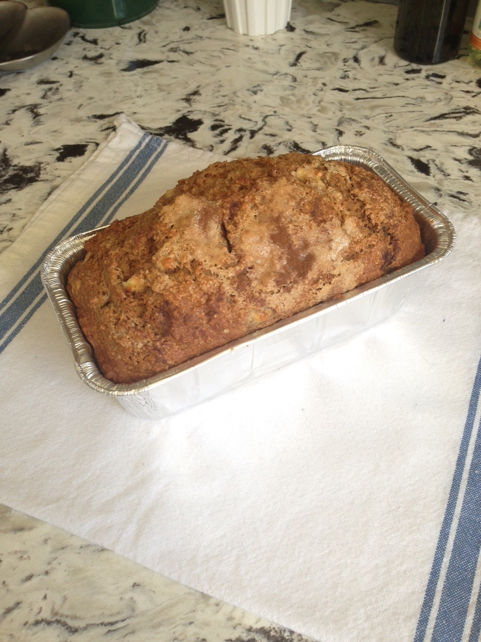 Cinnamon Apple Pie Bread - was sliced and frozen!
