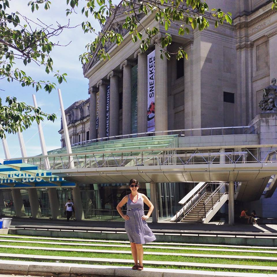 At the Brooklyn Art Museum, about five months pregnant summer 2015