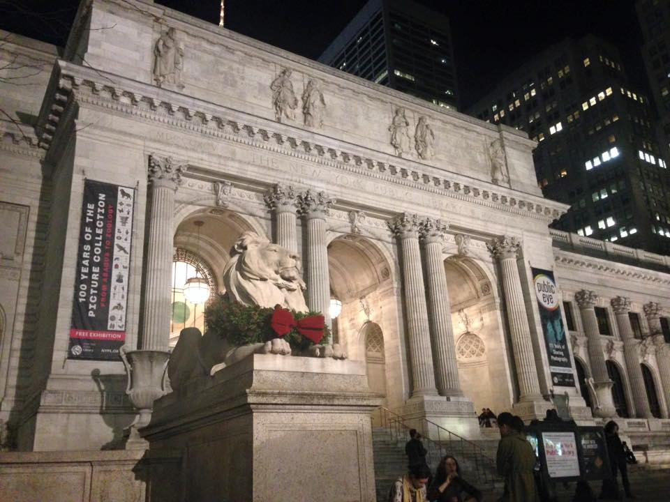 NYC Public Library, Christmas 2015