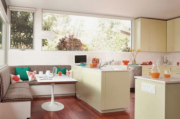 Breakfast Nook in Kitchen by  Guiding Home