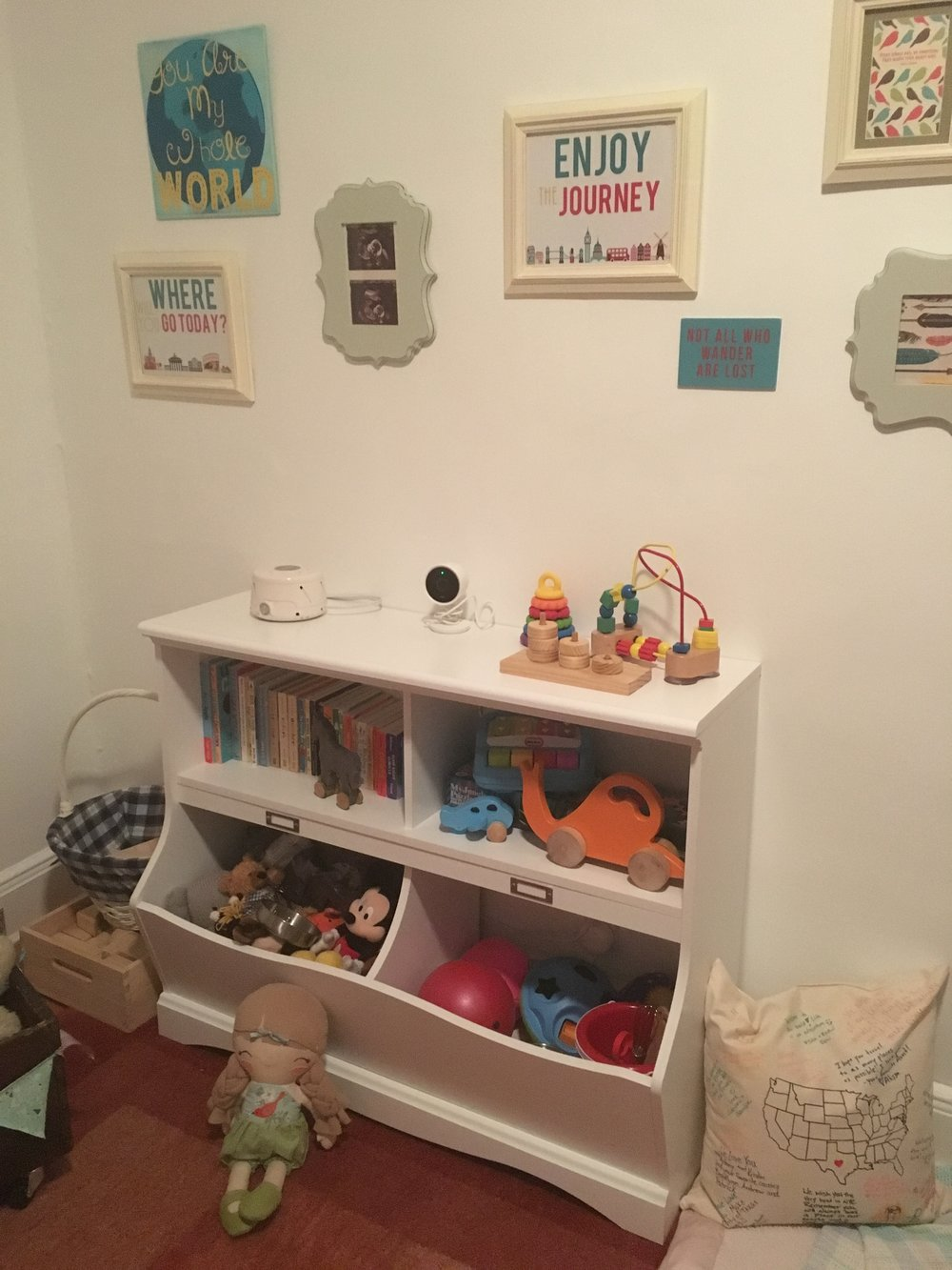 One of Adeline's early room arrangements