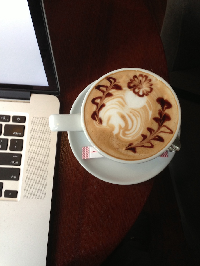 a woman must have latte and a mac of her own if she is to write fiction