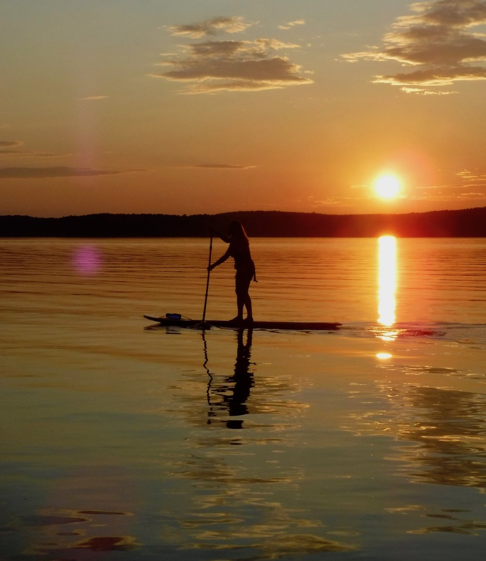 Sunset paddle on Jordan Lake
