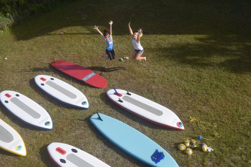 Allison is sharing the SUP STOKE with waterwomen all over the world!