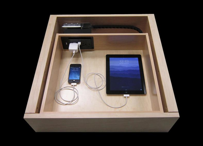 how to make a charging station in a drawer
